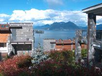 Baveno nuova costruzione appartamento monolocale vista lago e giardino.