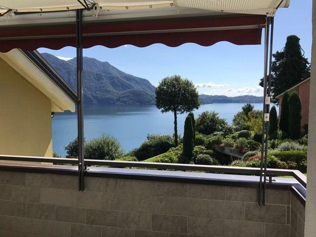 Appartamento in residence con terrazzo vista lago