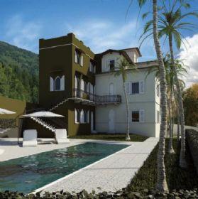 Meina recente ristrutturazione appartamento trilocale con piscina.