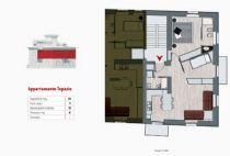 Meina appartamento con piscina ad uso comune, balcone e posto auto.