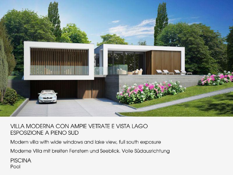 Arizzano villa moderna con magnifica vista lago piscina for Ville moderne con vetrate