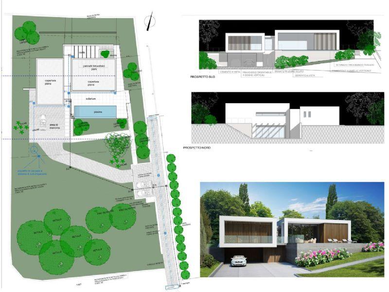 Arizzano villa moderna con magnifica vista lago piscina for Progetto villa moderna