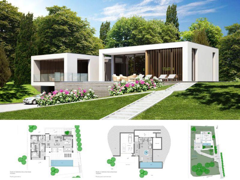 Arizzano villa moderna con magnifica vista lago piscina for Giardino villa moderna