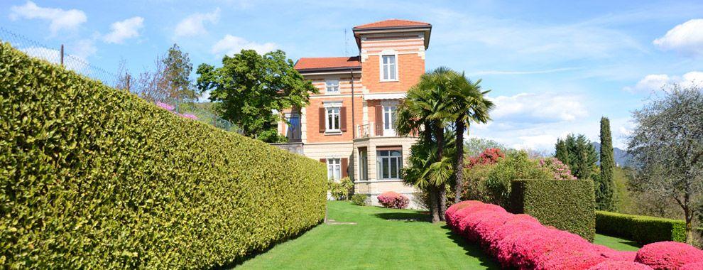 Lago Maggiore historische Villa mit panoramiche Seeblick